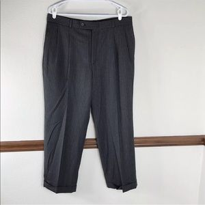 J Ferrar dark gray pinstripe wool pants 38X30